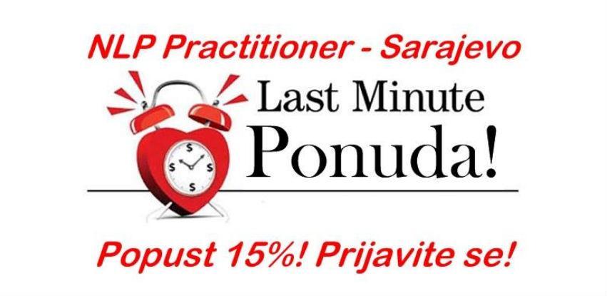 NLP Practitioner Sarajevo: Last minute ponuda - 15% POPUSTA!