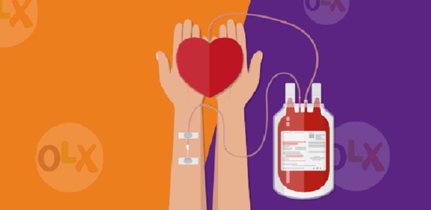Budite dijelom OLX akcije darivanja krvi od 15.07.2021.-15.08.2021. godine