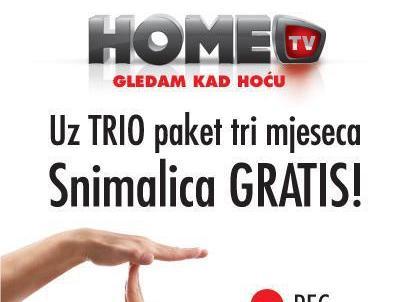 HT Eronet: Uz TRIO paket tri mjeseca Snimalica GRATIS!