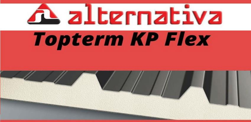 Topterm KP Flex temoizolacioni panel idealan za krovove sa blagim nagibom