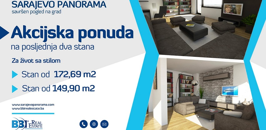 Dva stana u kompleksu Sarajevo Panorama po akcijskoj cijeni!