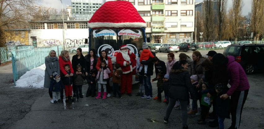 Centrotransov Djed Mraz obradovao je mališane iz Udruženja EDUS