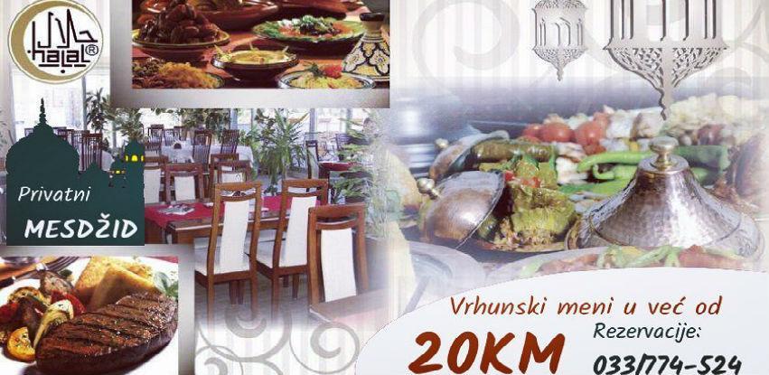 Iftarska ponuda u restoranu Terasa