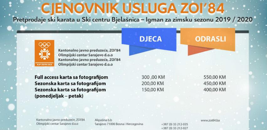 Akcijska prodaja Ski karata & Cjenovnik za zimsku sezonu 2019/2020