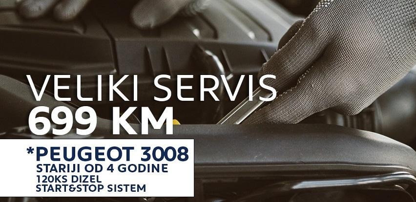 Fenomenalna ponuda VELIKI SERVIS za Peugeot model 3008