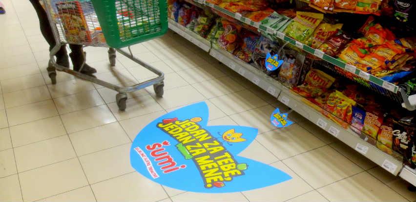 Podna naljepnica – floor sticker: Jedan od najprodavanijih formata oglašavanja