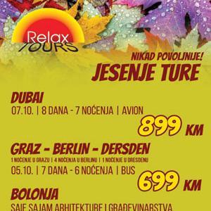 Jesenje ture sa Relax Toursom!
