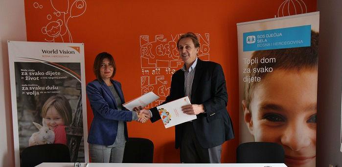 SOS Dječija sela BiH i World Vision u BiH potpisali su sporazum o partnerstvu