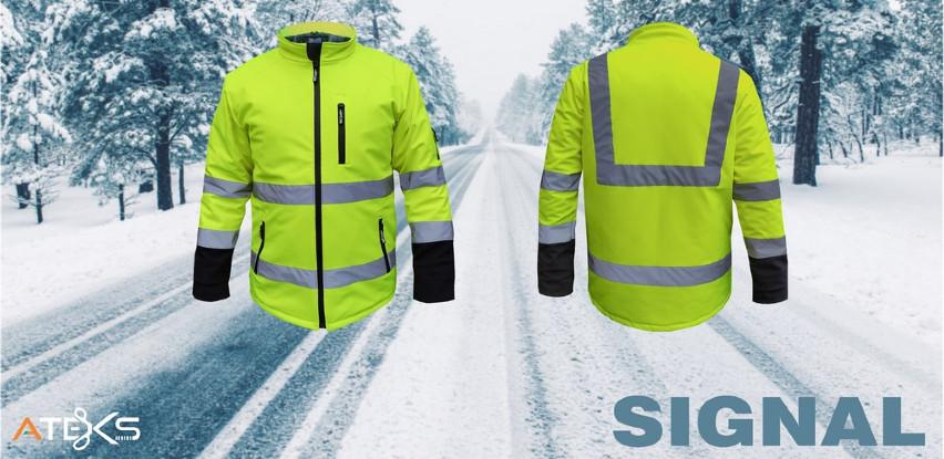 SIGNAL utopljena softshell jakna iz Ateksa pogodna za rad po kiši i hladnoći