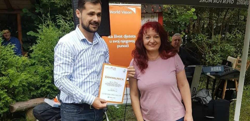 """HO """"World Vision BiH"""" dodijelila Općini Kakanj zahvalnicu"""