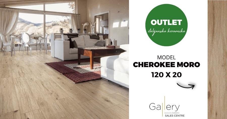 Cherokee Moro, italijanski gres koji reinterpretira drvo svojim modernim dizajnom i linearnom estetikom.